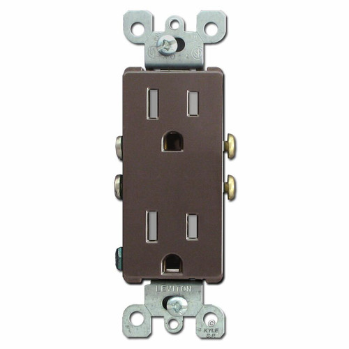Tamper Resistant 15A Decora Receptacles - Brown