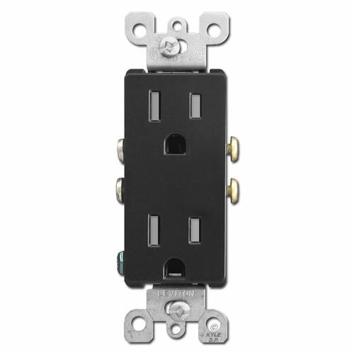 15A Decora Outlets Tamper Resistant - Black