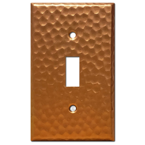 Edit a Product - 1 Toggle Wall Plate - Hammered Copper
