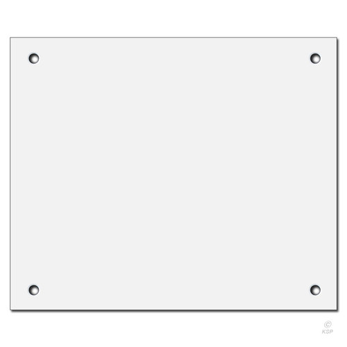 12'' x 10'' Flat Panel Wall Plate Cover for Big Hole - Corner Screws