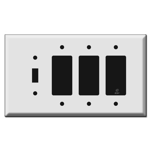 Oversized 1 Toggle 3 Decora Wall Switch Plates