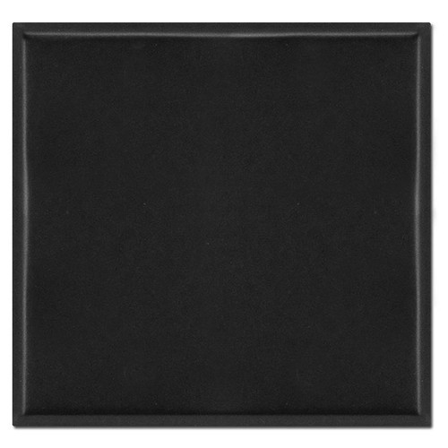 2-Gang No Hole All Blank Cover Wall Plate - Black