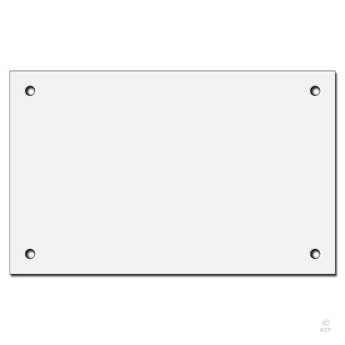 16'' x 10'' Flat Panel Wall Plate Cover for Large Box - Corner Screws