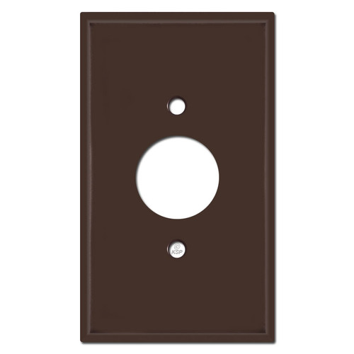 Oversized 1.4'' Electrical Outlet Cover Plate - Brown
