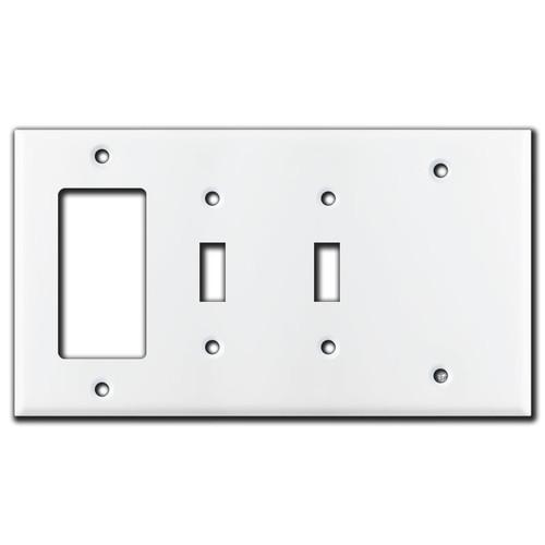 1 GFI Decora 2 Toggle 1 Blank Combo Switch Plates