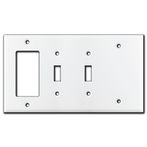 1 GFI Decora 2 Toggle 1 Blank Combo Switch Plates - White