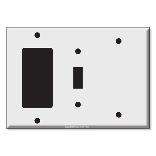 Decora Toggle Blank Combo Wall Switch Plates