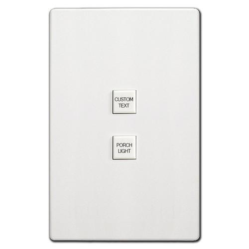 Engraved Touchplate Low Volt 2 Switch Light Controls Mystique