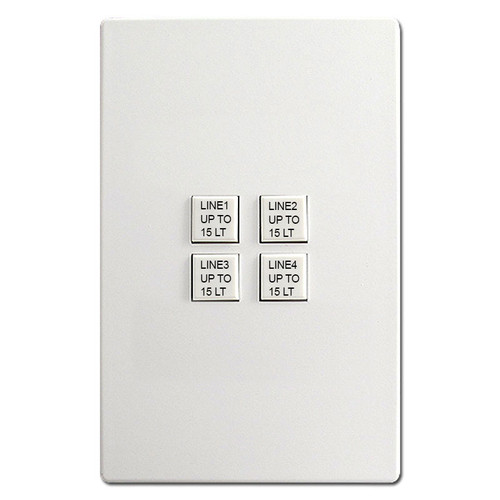 Engraved Touch-Plate Mystique 4 Switch Control Stations - Add your own text.