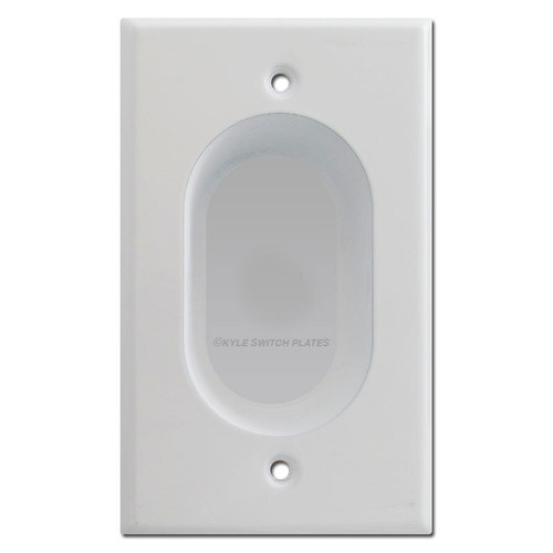 Recessed Blank Wall Plate Cover - White