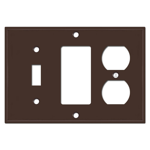 Outlet Decora Toggle Switch Cover Plate - Brown