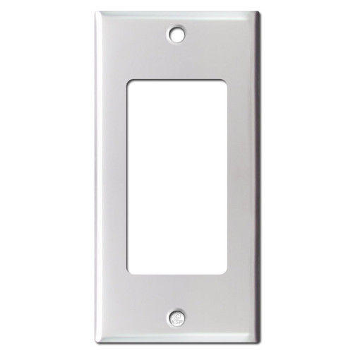 Narrow Decor/GFCI Receptacle Cover - Brushed Aluminum