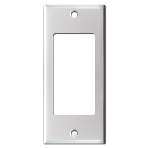 2'' Narrow GFI Decora Rocker Wallplate - Brushed Aluminum