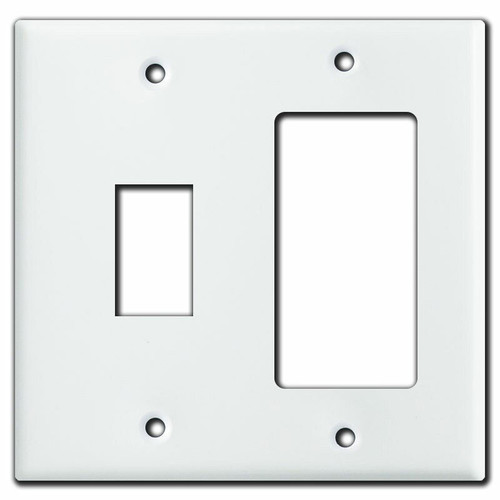 Decora + GE New Style 1-Stacked Switch Low Voltage Cover - White