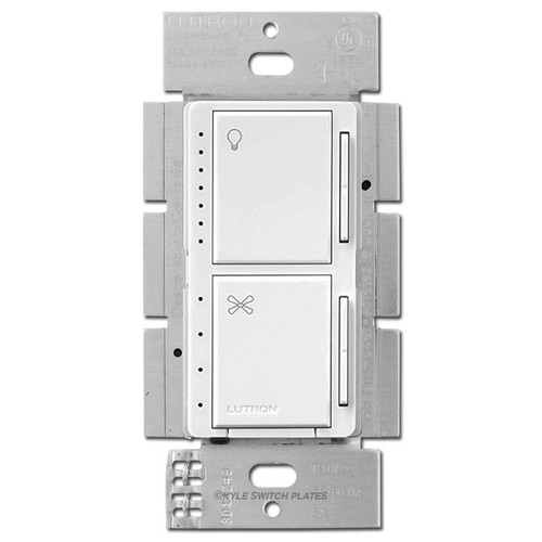 Dual CFL LED Dimmer + Fan Controller Lutron Maestro - White