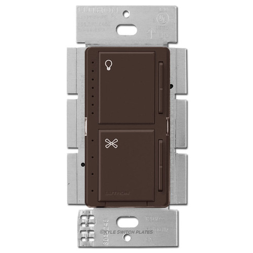Lutron Stacked CFL LED Fader + Fan Control Maestro - Brown