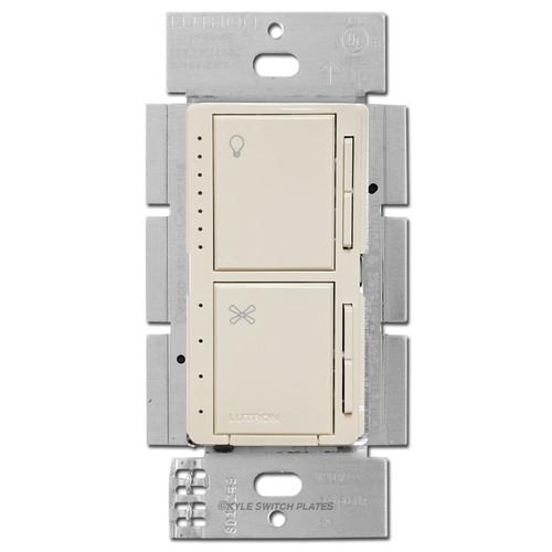 Lutron Maestro Fan Switch + CFL LED Dimmer - Light Almond