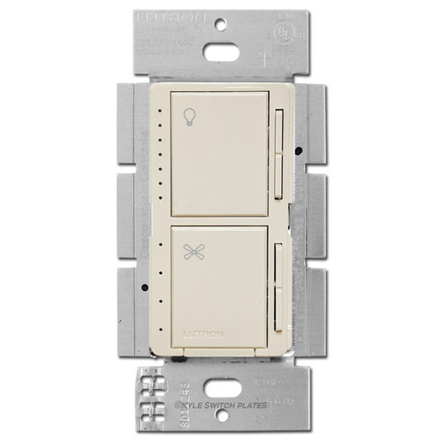 Lutron Maestro Fan Switch + CFL LED Dimmer - Light Almond
