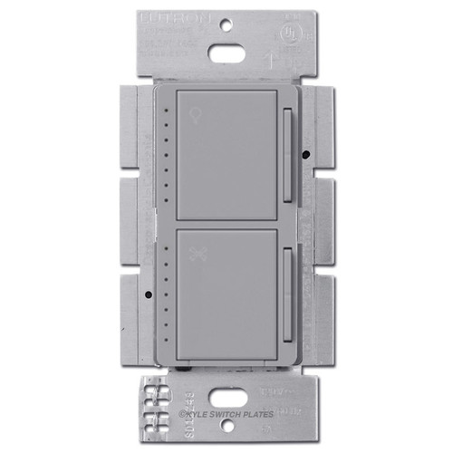 Modern Fan Speed Switch + CFL LED Dimmer Lutron Maestro - Gray