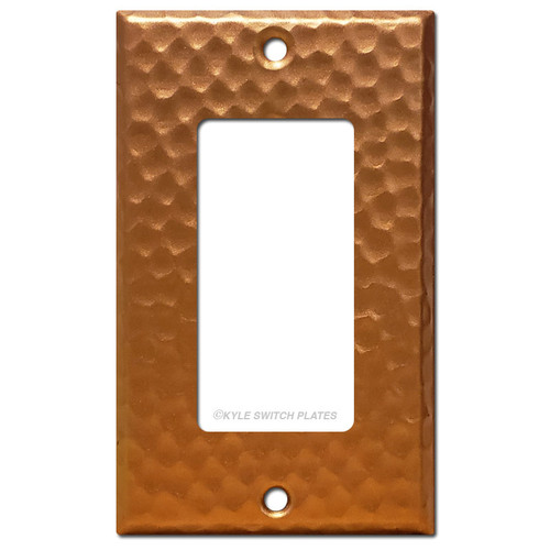 1 Decora Wall Plate - Hammered Copper
