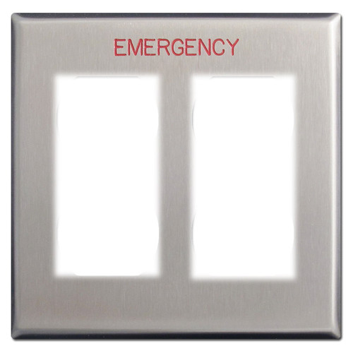 Emergency 2-Decora Switch Outlet Cover for Critical Locations
