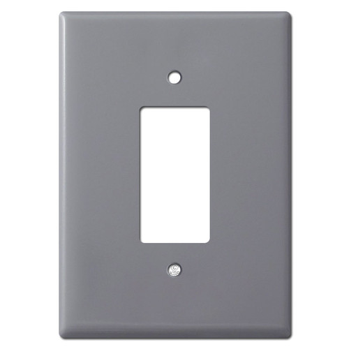 Extra Big 6.38'' Tall Decor Switch Outlet Cover - Gray