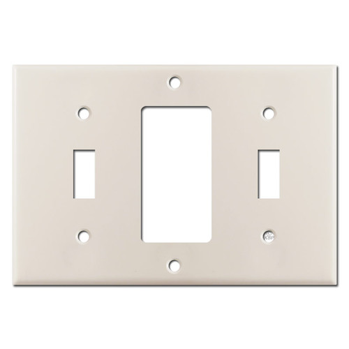 Switch Decor Switch 3-Gang Wall Switchplate - Light Almond