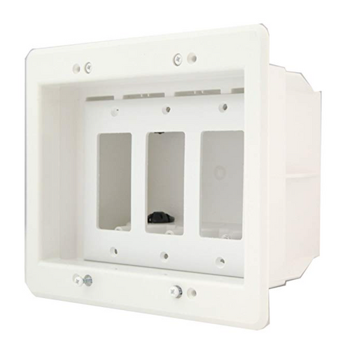 Recessed 3-Gang Electrical Box for Deep Outlets & Cabling