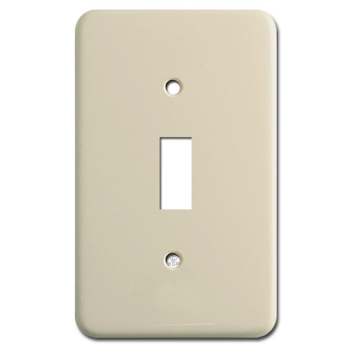 9/16'' Deep 1 Toggle Switch Light Plate - Ivory