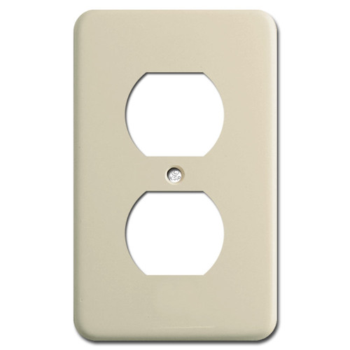 """9/16"""" Deep Duplex Electrical Receptacle Cover - Ivory"""