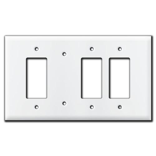 Oversized Rocker Blank 2-Rocker Switch Plate Cover - White