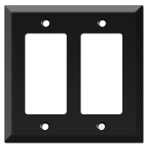 Deep 2 Decor Rocker Switch Outlet Plate - Black