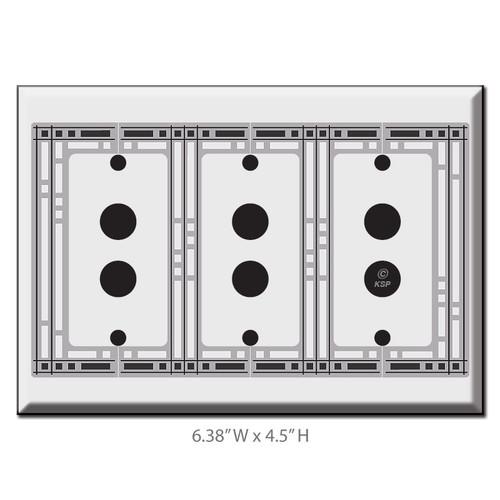 Decorative Triple PushButton Light Switch Wall Plate