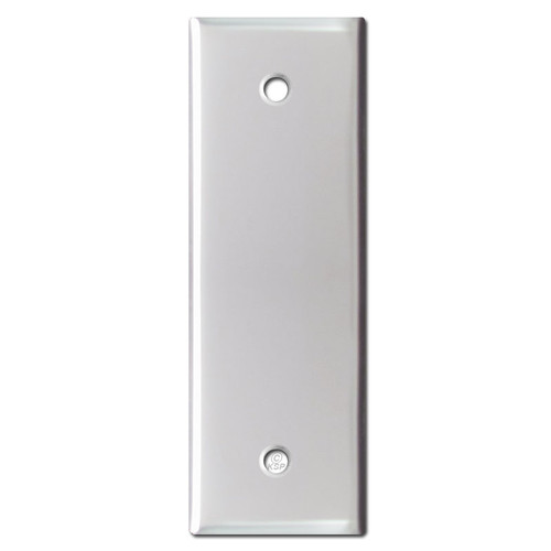 Narrow 1.5'' Blank Wall Plate Cover - Brushed Aluminum