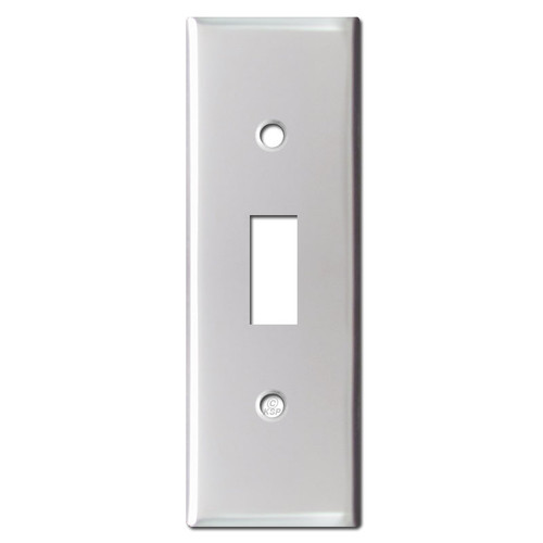 Skinny 1.5'' Narrow Toggle Switch Wallplate - Brushed Aluminum
