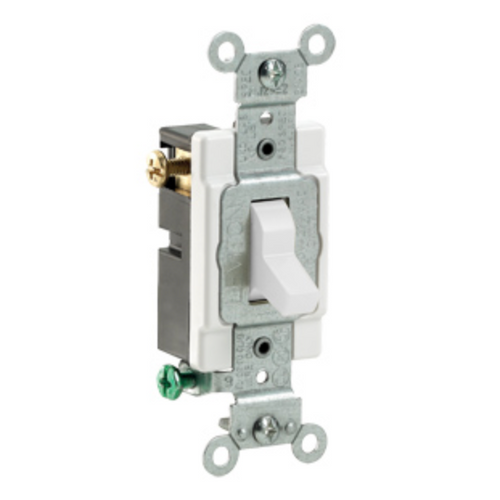 15A 3-Way Toggle Switches Commercial Spec Grade Leviton - White