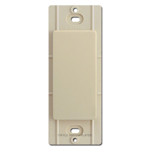 Blank Insert for Decorator Switch Plates Lutron - Ivory