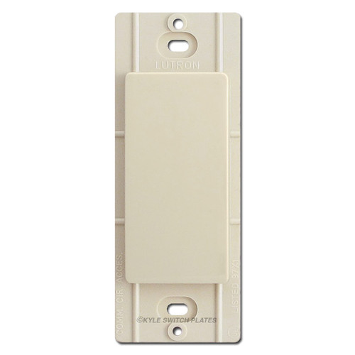 Blank Insert for Decor Wall Plates Lutron - Light Almond