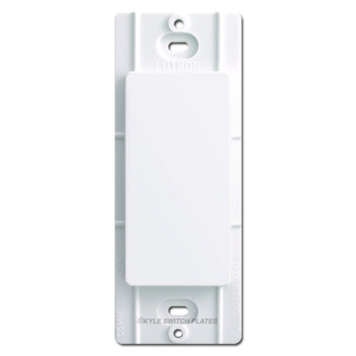 Blank Filler Insert for Decor Wall Switch Plates Lutron - White