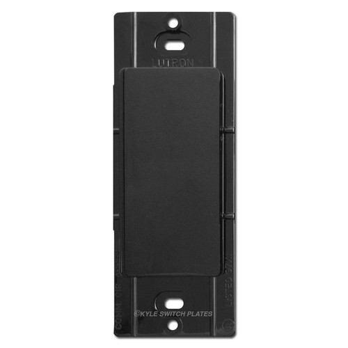 Blank Filler Insert for Decora Switch Wall Plate Lutron - Black