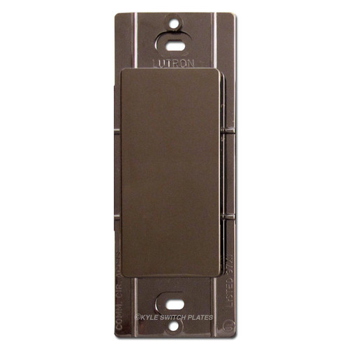 Blank Filler for Decora Switch Wallplate Lutron - Brown