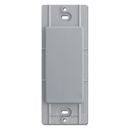 Blank Filler Insert for Decor Switchplate Lutron - Gray