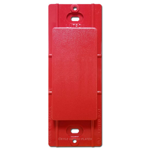 Satin Blank Filler for Decorator Wall Plate - Lutron Red Hot