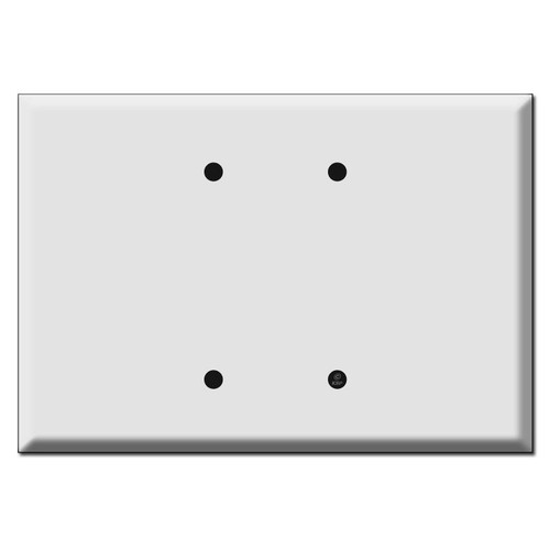 "Extra Oversized 2 Blank Wall Plate Covers 6.38"" Wide"