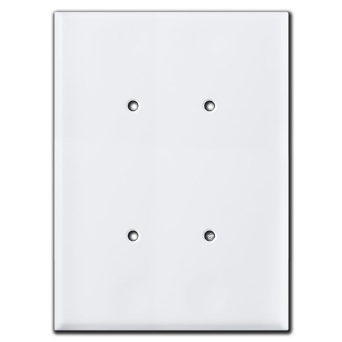 """Extra large 7.5"""" double blank electrical box cover."""