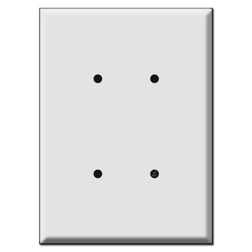 "Largest 7.5"" Oversized 2 Blank Electrical Wall Plates"