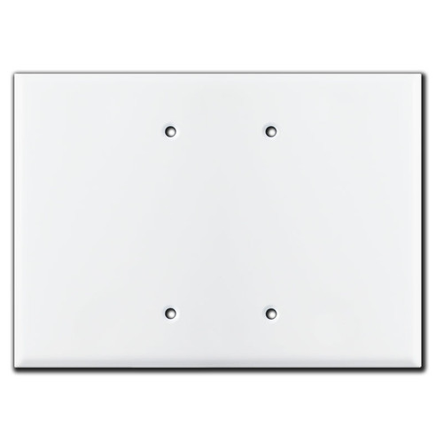 Wide 2-Blank Electrical Box Cover Plate