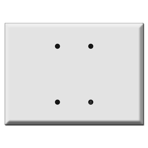 "Biggest 7.5"" Wide Jumbo 2 Blank Electrical Wall Plates"