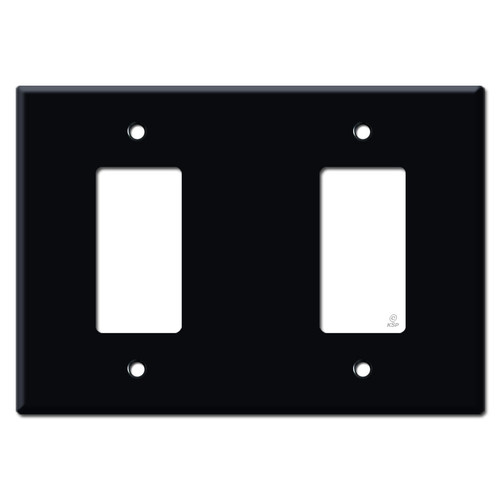 Oversized Decora Blank Decora Switch Cover Plate - Black