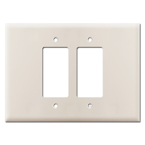 7.5'' Wide Oversized 2 Decor Rocker GFCI Wall Plate - Light Almond